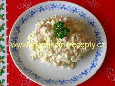 19 salát z krabích tyčinek Potato Salad, Oatmeal, Grains, Potatoes, Rice, Breakfast, Ethnic Recipes, Food, Breakfast Cafe