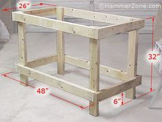 Basic workbench plans ideal good frame idea could have lots of other uses simple and osb construction makes this work bench an easy diy project Building A Workbench, Woodworking Workbench, Woodworking Crafts, Workbench Ideas, Workbench Organization, Workbench Designs, Garage Workbench, Making A Workbench, Simple Workbench Plans
