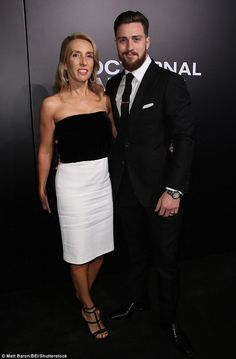 Kick-ass: Aaron Taylor-Johnson and wife Sam scrubbed up well for the event...