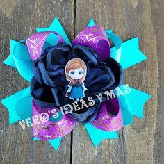 hair bows Anna frozen moño de Anna de frozen
