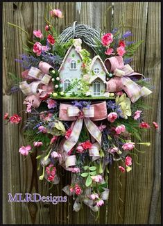 This item is unavailable Door Crafts, Wreath Crafts, Diy And Crafts, Wreath Ideas, Spring Front Door Wreaths, Spring Door, Spring Wreaths, Spring Home Decor, Spring Crafts