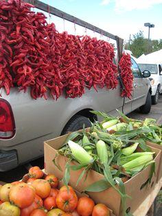 Chile Ristras, Farmer's Market, Santa Fe, New Mexico
