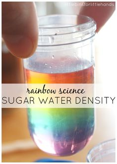 Make a rainbow sugar water density tower with just a few common ingredients. This colorful sugar water density activity is fun for kids and adults too!