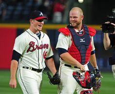 My all-time two favorite Braves - closer Craig Kimbrel  Catcher Brian McCann!