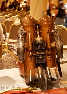 Steampunk personal flying engine - want one please!!!!!