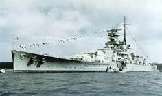 The German cruiser Scharnhorst, which broke out of the N. Sea with the famous German Battleship Bismark.