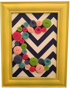 Button Letter in Picture Frame.