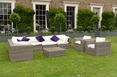 Outdoor furniture: white cushions