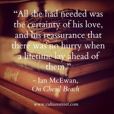 Culture Street | Quote of the Day from Ian McEwan