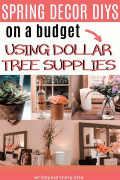Looking for beautiful DIY home decor projects to try? These 5 Spring DIYs using Dollar Tree products are the perfect budget-friendly DIY to try. They will make your home look beautiful and ready for spring without spending more than a few dollars!