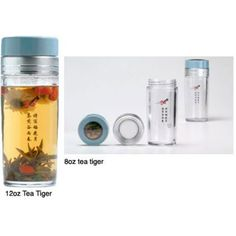 TEA TIGER™ TEA BREWING THERMOS & DRINKING CUP  The Tea Tiger™ is a unique tea brewer, drinking cup, and thermos all in one. It is simple, easy to use, and economical. Many good teas can be brewed repeatedly with excellent flavor retention. It's also a great way to view lovely tea leaves as you enjoy it!  We have sold thousands Tea Tigers™ since 2004, with many repeat customers, and people love them. No more having to compromise with teabags when you are busy, commuting, or traveling…