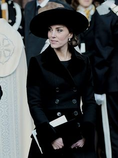 Catherine, Duchess of Cambridge, leaves Chester Cathedral after attending the memorial service for The Duke of Westminster on November 28, 2016.