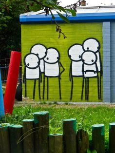 Stik London. Street art - something you dont get to see much at my country