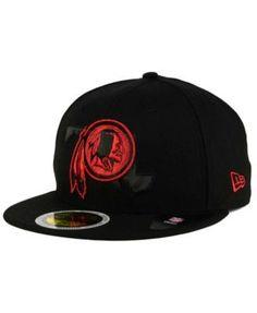 New Era Washington Redskins State Flective Metallic 59FIFTY Fitted Cap - Black 7 3/8