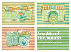 freebie camera printables. for my office shelves!