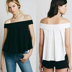 Estilo De La Manera De Señora Women Casual Off-hombro Del Cuello Del Barco Sólido Elegante Camisa Atractiva Floja Blusa Superior