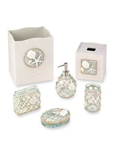 Avanti Sea Glass Bath Accessories