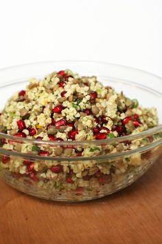 Millet, Lentil, and Pomegranate Salad - For when pomegranates are back in season =[