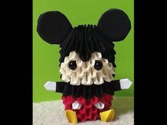 How to make 3D Origami Mickey Mouse (HD) part 2 - YouTube