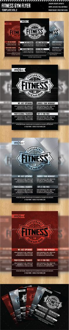 Workout Flyer Biceps Gym Biceps, Flyer template and Fonts