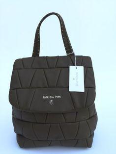 Borsa Patrizia Pepe Tracolla Trasformabile Shopping Nylon Eco Pelle ... be074a728ed