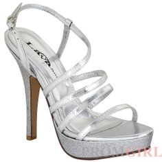 Shop prom shoes and special occasion shoes at PromGirl. Dress shoes, designer high heels for prom, and sandals for prom or homecoming parties. High Heels For Prom, Silver High Heels, Prom Heels, Wedding Heels, Sexy Heels, Stiletto Heels, Stilettos, Designer Dress Shoes, Designer High Heels
