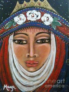 Eleanor Of Aquitaine The Lioness In Winter By Maya Telford - Painting - Acrylic On Canvas
