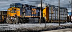 HDR of Train in Dearborn Michigan I took.