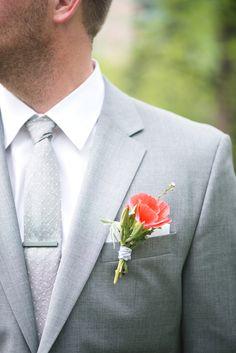 Spring Wedding Boutonniere - Amborella Floral Studio - Kristyn Harder Photography
