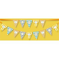 Classic Carnival Birthday Yellow and Blue Banner by Beau-coup