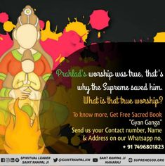 Prahlad's worship was true, that's why the Supreme saved him. What is that true worship? Quotes Holi of Supreme God Kabir & special Holi