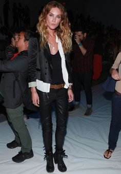 tough menswear look that few can pull off but Erin Wasson has done it with style