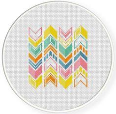 Adorable chevron cross stitch