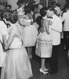 I wish high school dances were still like this. Cheshire Academy prom, circa 1960