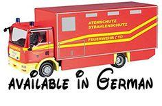 B00KYSYM5M : Herpa 091350 - MAN TGL Koffer-LKW GW-AS Feuerwehr Limburg Gerätewagen Atemschutz. Hochwertiges Kunststoffmodell. Herpa Cars & Trucks 2014 / 05-06