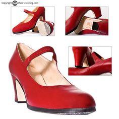 ¿Como no practicar con estos zapatos para flamenco forrados con suave piel?