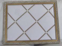 Cadre Pêle-mêle patiné, monogramme : Décorations murales par lin-et-patine