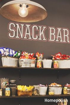 Every man cave definitely needs a snack bar! Click the pin to see 10 other essen… Every man cave definitely needs a snack bar! Click the pin to see 10 other essential items for your manly space. Deco Cinema, Cinema Room, Unique Man Cave Ideas, Movie Man Cave Ideas, Man Cave Party Ideas, Teenage Man Cave Ideas, Vintage Man Cave Ideas, Man Cave Ideas Gamer, Movie Ideas