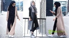 35 Trendy And Fashionable Hijab Style For Teens - Herren- und Damenmode - Kleidung Hijab Casual, Hijab Chic, Ootd Hijab, Hijab Fashion Casual, Casual Hijab Styles, Casual Dresses, Stylish Hijab, Casual Clothes, Winter Clothes