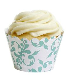 Another great find on #zulily! Tiffany Blue Filigree Cupcake Wrapper - Set of 12 by Koyal Wholesale #zulilyfinds