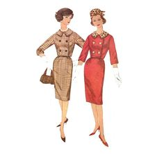 1960s Womens Suit and Hat - Simplicity 3588 Vintage Pattern - 34 Bust