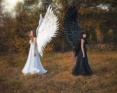 Black Angel Costume, Angel Wings Costume, Cosplay Wings, Angel Costume Women, Angel And Devil Costume, Adult Costumes, Costumes For Women, Cosplay Costumes, Hero Costumes