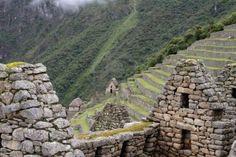Houses and terraces at Machu Picchu, Peru