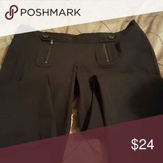 Long black pants with 2 zippers and buttons Never worn with out tags,  very stylish long black pants by INC INC International Concepts Pants Straight Leg