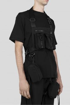 LOWTECH Tactical bag with detachable pocket Adjustable lenghts Made in Italy Modern Hijab Fashion, Korean Fashion Men, Dark Fashion, Minimal Fashion, Street Fashion, Men Fashion, Crazy Outfits, Edgy Outfits, Fashion Outfits