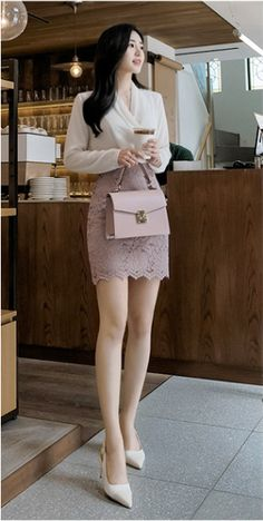 Korean Fashion Style 2019 Trends - Korean Fashion by Attrangs Office Outfits Women, Casual Work Outfits, Grunge Outfits, Pretty Outfits, Stylish Outfits, Cute Casual Outfits, Korean Fashion Work, Korea Fashion, Asian Fashion