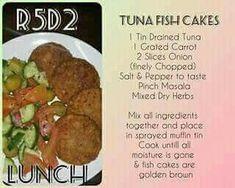 28 Dae DIeet | Viskoekies | Fish Cakes Clean Eating Recipes, Diet Recipes, Healthy Recipes, Healthy Food, 28 Dae Dieet, Tuna Fish Cakes, Dieet Plan, Drying Herbs, Health And Nutrition