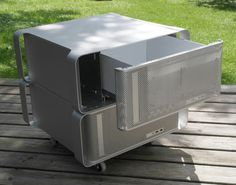Furniture made from Apple Power Mac G5 cases