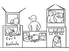 """pescii: """" idk if people are still into draw the squad things, but I thought it'd be fun to make one! draw the squad in their box fort! if you use it credit me please? owo ❤️ """""""