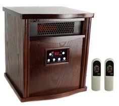 New LifeSmart LS 1000HH13 2000 Sq Ft Infrared Quartz Electric Portable Heater